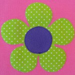 maat 68 roze met groene bloem MEISJES 3 klein