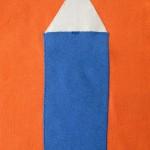 maat 74 oranje met blauw potlood 3 klein